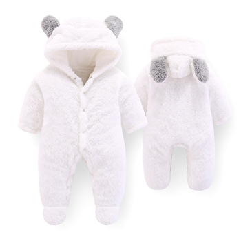 Baby Winter Overalls For Baby Girls Costume 2019 Autumn Newborn Clothes Baby Wool Rompers For Baby Boys Jumpsuit Infant Clothing 4