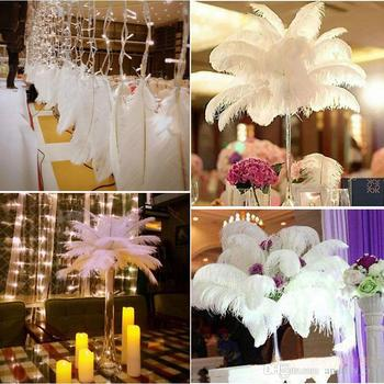 new 18-20 inch(45-50cm) white Ostrich Feather plumes for wedding centerpiece wedding party event decor festive decoration 1