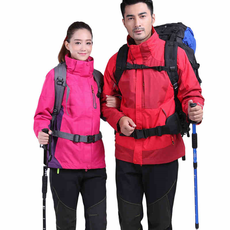 Здесь продается  5color free shipping 2015 men women outdoor waterproof jacket 3 in 1 hiking ski jacket roupas jaqueta senderismo veste chaquetas  Спорт и развлечения
