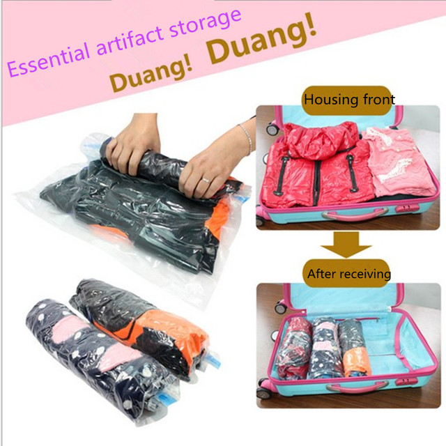Vacuum Seal Storage Bag Compressed Bags Space Saving Organizer Travel Home Clothes
