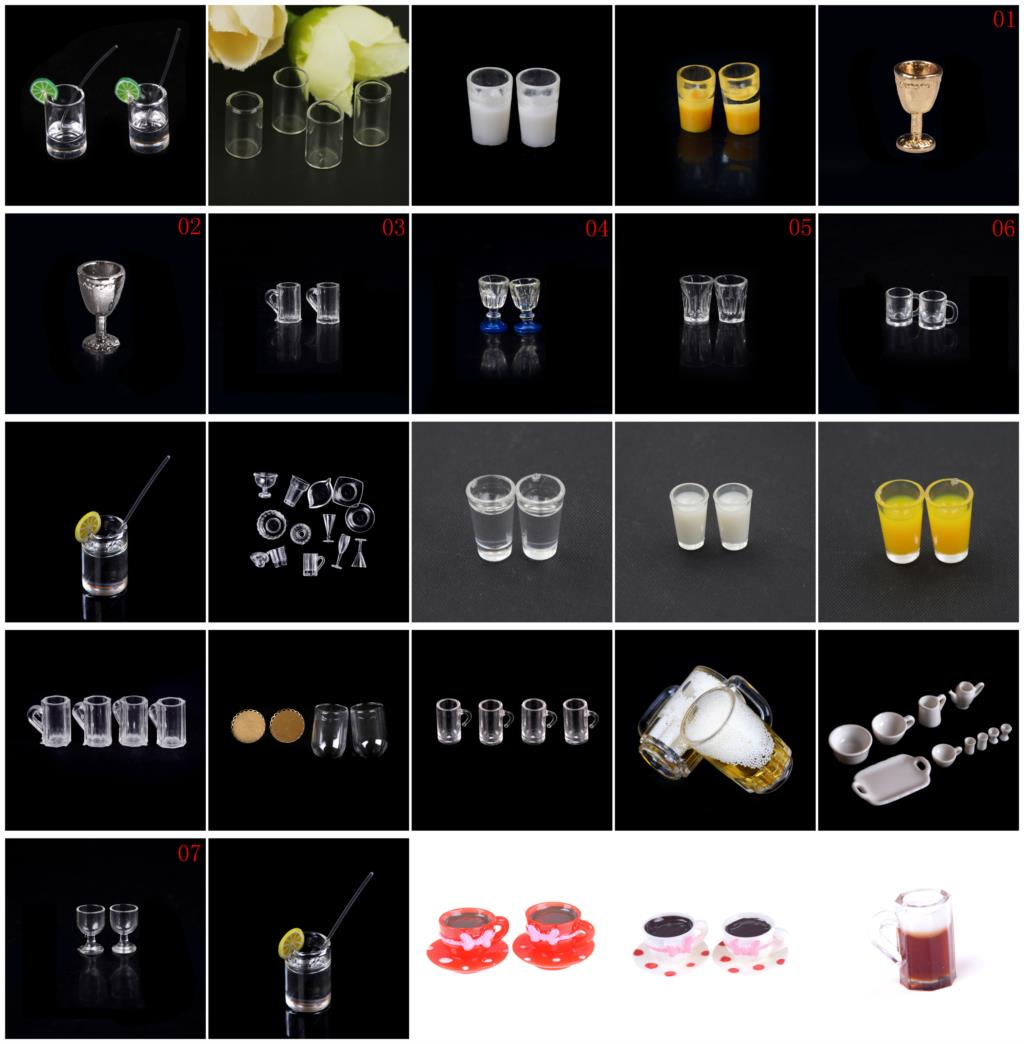 1:12 Scale Dollhouse  DIY Parts Plastic Transparent Goblet Miniature Mini Wine Beer Cup Craft Home Decoration Glass Model1:12 Scale Dollhouse  DIY Parts Plastic Transparent Goblet Miniature Mini Wine Beer Cup Craft Home Decoration Glass Model