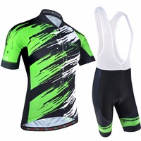 BXIO Men Cycling Jersey Breathable Short Sleeve With Bib Shorts Pro Team Bike Wears Road Racing