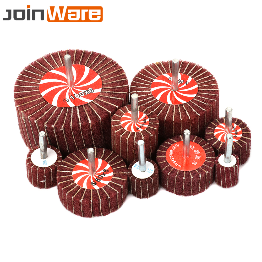2/10/20Pcs Non-woven Interleaf Flap Brush Wheel 320Grit Diameter 20 25 30 40 50 60 70 80 100mm Abrasive Rotary Tool High Quality