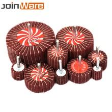 2/10/20Pcs Non woven Interleaf Flap Brush Wheel 320Grit Diameter 20 25 30 40 50 60 70 80 100mm Abrasive Rotary Tool High Quality