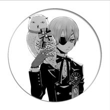 Noir Butler Ciel Phantomhive Cosplay Badge Sebastian Michaelis Broche Broches Collection Badges pour Sacs À Dos Vêtements