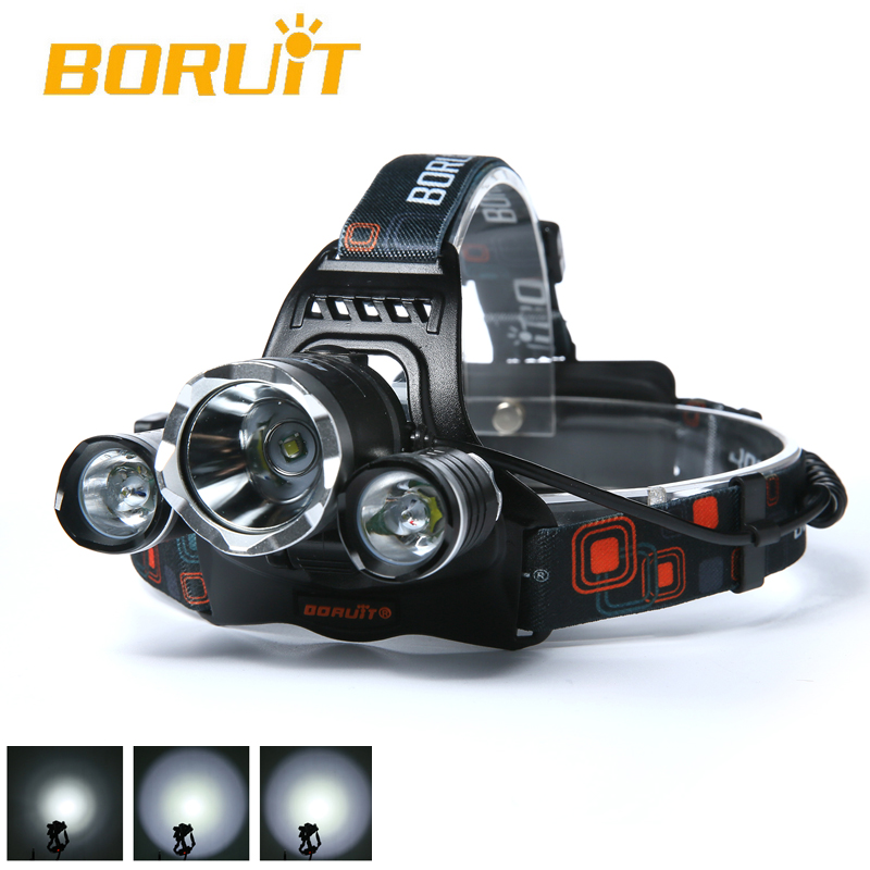 6000LM 3 X CREE XML T6 LED Rechargerabl 18650 Headlamp Headlight Head Torch Flashlight