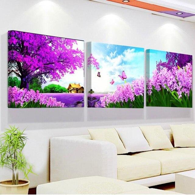 Arte de la pared con marco y sin marco pintura de la lona 3 unidades ...