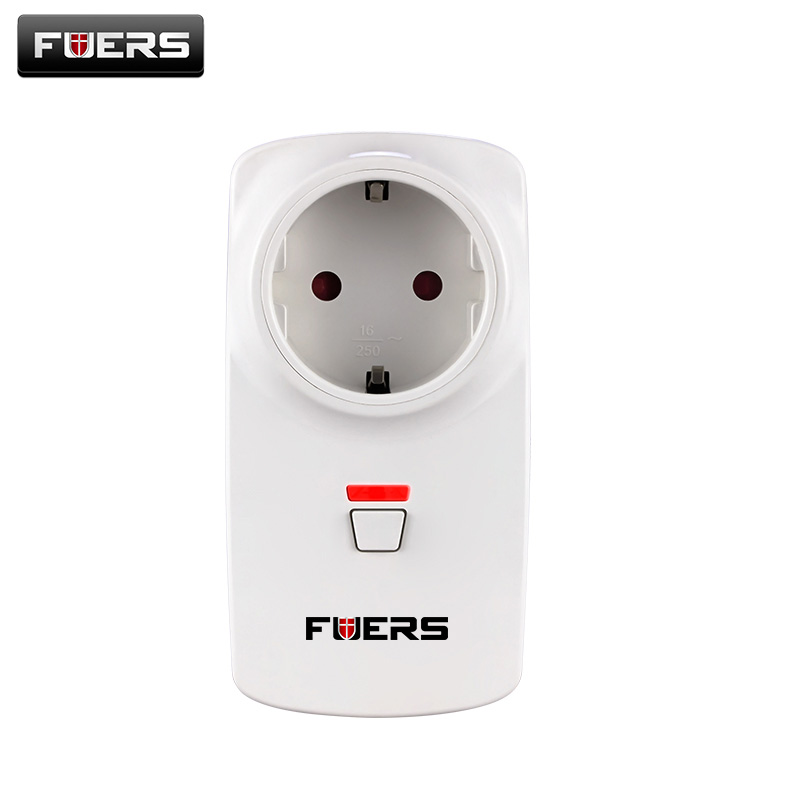Fuers US/AU/EU/UK Wireless Smart Socket Plug Switch App Control Security Alarm Sockets 433MHz For G90B G90B Plus Alarm System wireless smart socket power control appliance control switch compatible with home security 868mhz x6 alarm system eu uk us plug