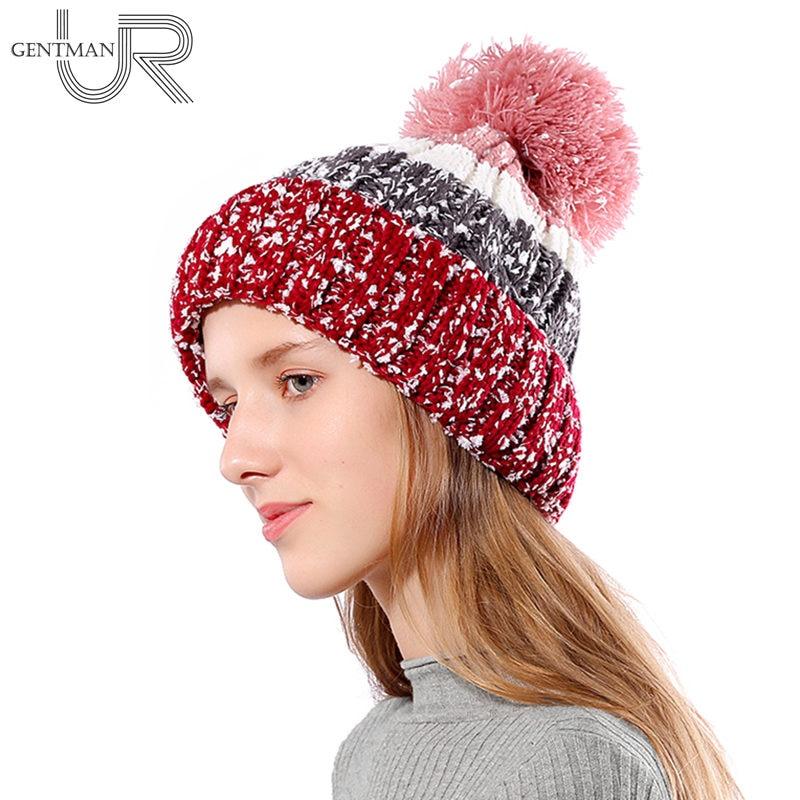 Nuzada Acrylic Cotton Knitted Caps Bonnet Cold Warm Function Men Women Skullies Beanies Cap Autumn Winter Hat Internal Plush Apparel Accessories