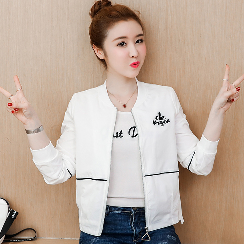 2019 Harajuku   Basic     Jacket   Coat Casual Long Sleeve Baseball Outwear Casual Tops Plus Size Women Bomber   Jacket   Streetwear JM004