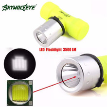 3500Lm T6 LED Waterproof Underwater Diving Head light Lamp Flashlight Torch Outdoor Sports Bike Cycling Accessories May 12