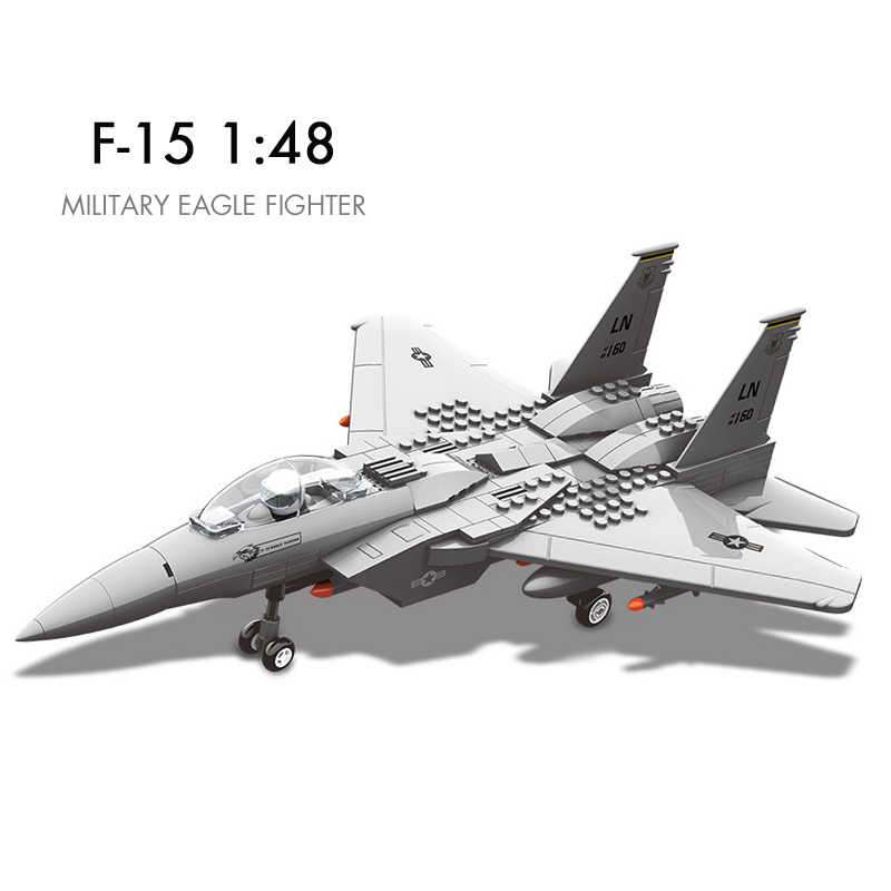 Pandadomik Military Eagle Fighter 1:48 Large Plane Building Toy Bricks Blocks Model toy Constructor Toys for Boys Gifts