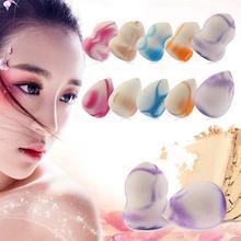 10pcs Portable Makeup Foundation Sponge Cosmetics Puffs Powder Liquid Cream Water-Drop Shape Cosmetic Puff Makeup Brush Tools