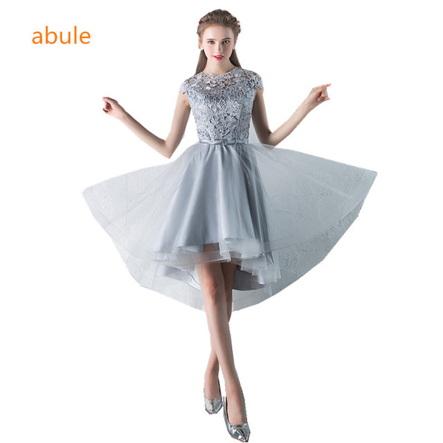 abule 2017 lace Evening Dress short a line lace Formal Party Prom ...