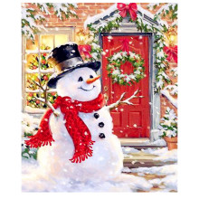 5D DIY Diamond Embroiderey Snowman Full Square / Round Mosaic Christmas Decoration Home Painting