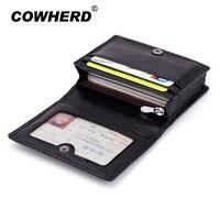 Fashion Men Sheepskin Leather Mini Wallets Women Business Credit Card Holder ID Pocket Hasp Simple Travel Wallet Coin Purse