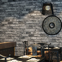 Modern Chinese Style Bricks Wallpaper Rolls 3d Antique Vintage Red Brick Grey Wallpaper Background Stone Wall