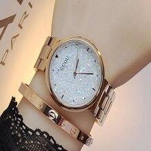 GUOU Luxury Diamond Women's Watches Rose Gold Wrist watch Stainless Steel Ladies Watch Clock montre femme relogio feminino saat