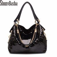 The New 2014 European And American Fashion Glisten Women Handbag PU Leather Women S Shoulder Bags