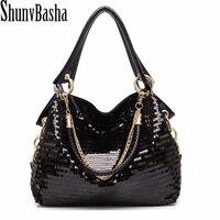 The New 2014 European And American Fashion Glisten Women Handbag PU Leather Women S Shoulder Bags