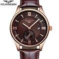 Guanqin original de la marca para hombre relojes de lujo superior de la marca para hombre de negocios reloj masculino de cuarzo reloj de pulsera de reloj de cuarzo relogio masculino