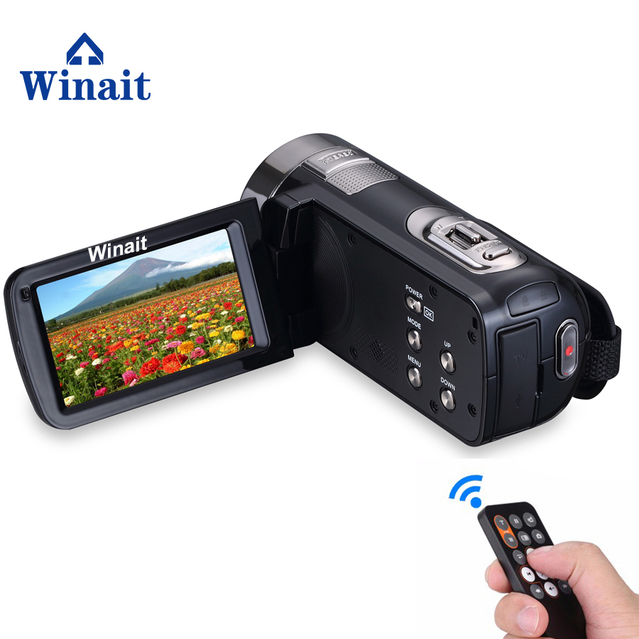 Winait Full hd 1080p Night Vision Digital video Camera, 3.0'' Touch Display, MAX 24MP mini DV,16X Digital Zoom Camcorder winait electronic image stabilization hdv z8 digital video camera with recording function touch screen