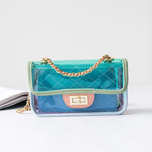 2019 Fashion Transparent Jelly Cute wild Waterproof Convenient Messenger Shoulder Chain Bag Female Handbags