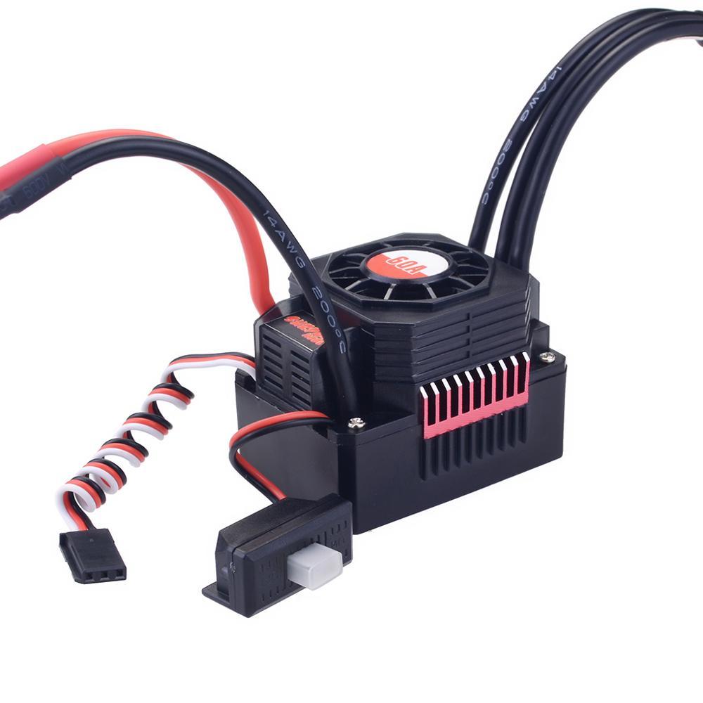 Image 5 - SURPASSHOBBY KK Waterproof Combo 3660 5.0mm 1750KV 2200KV 2600KV 3100KV 3500KV Brushless Motor w/Heat Sink 60A ESC for RC Car-in Parts & Accessories from Toys & Hobbies