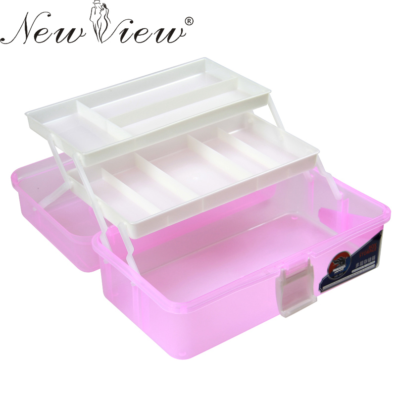 Nail Art Box 3 Layer Multi Utility Storage Case Professional Manicure kit Nail Tool Makeup Box Large Size