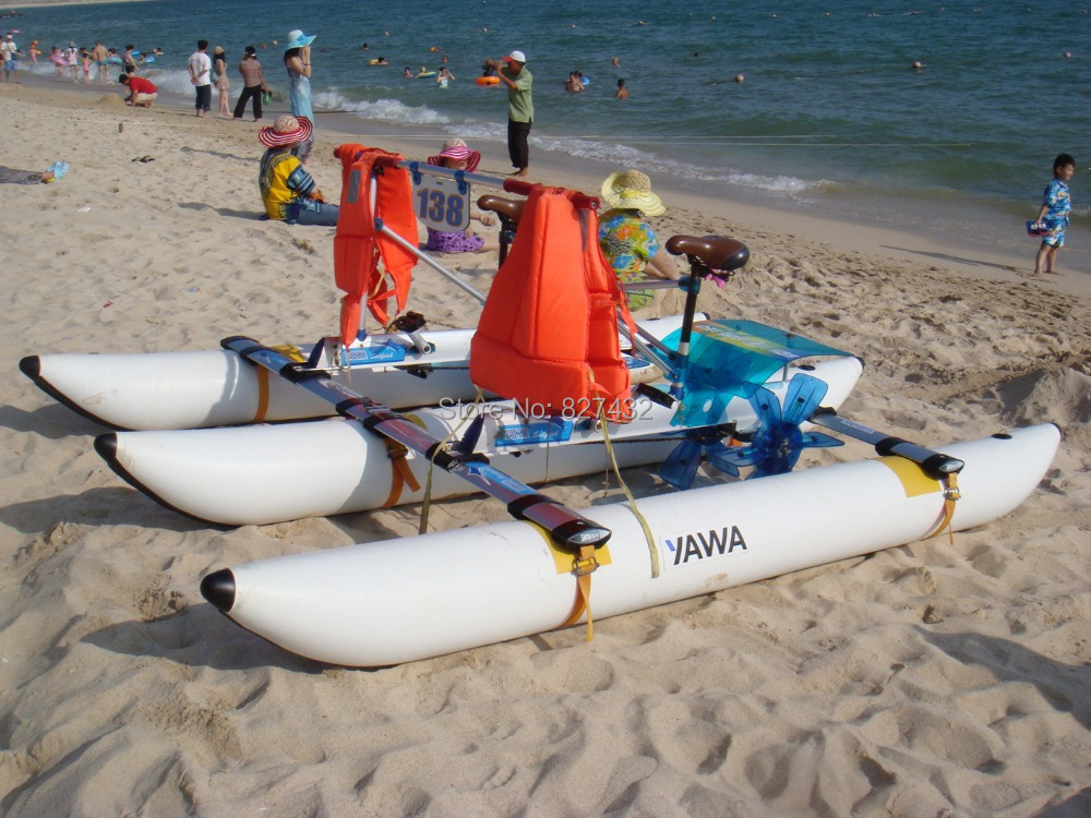 Water Sports Inflatable Pedal Boats Two Riders Bikes - Green Founder Inc store