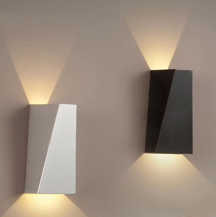 buy indoor led wall sconce modern iron. Black Bedroom Furniture Sets. Home Design Ideas