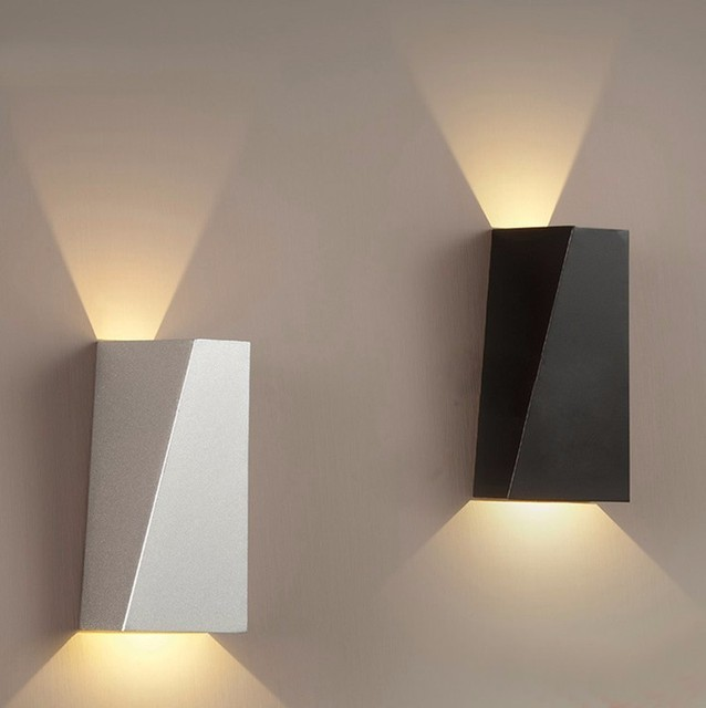 Indoor Led Wall Sconce Modern Iron Wall Lamp Bedroom Bedside Lamp ...