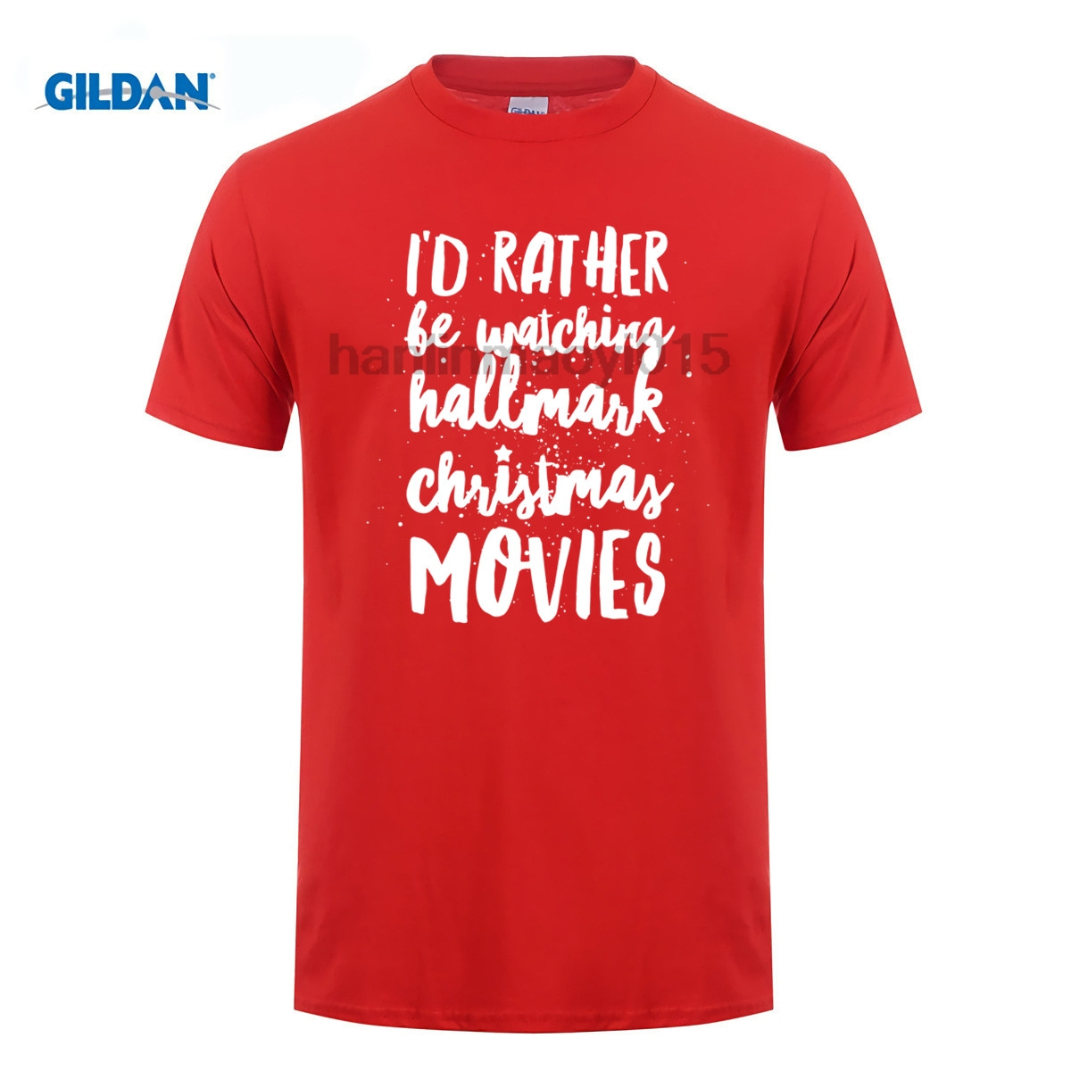 GILDAN 100% cotton O-neck printed T-shirt Hallmark Christmas Movies T-Shirt