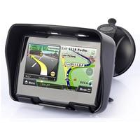 Free DHL 4.3 Inch motorcycle navigation bluetooth motorbike GPS navigator waterproof 256MB 8GB IPX7 free install maps+Bracket