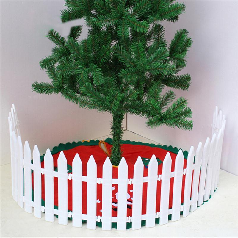 Bestoyard Biały Plastik Pikieta Ogrodzenia Miniaturowe Dom Ogród