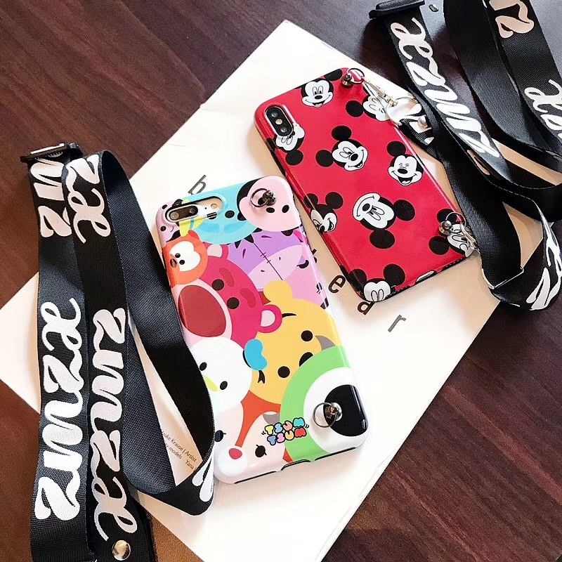 Winnie Bear Mickey Mouse phone case For iphone 6 case For iphone 8 case For iphone xs max Xr Xs X 6S 6 7 8 Plus Soft back Cover