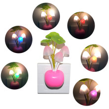 Light Sensor LED Night Light Mushroom Wall Socket Lights Luminaria Decorative Lamp Nightlight for Child Home Bedroom EU US Plug(China)