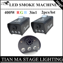2pcs/lot 400W LED Fog machine R G B 3in1, full color smoke machine professional stage lighting