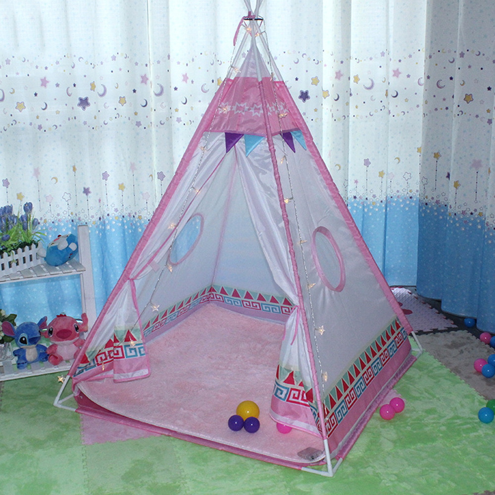 Indian Kids Play Tents Four Poles Children Teepees Tent for Girls Boys Play Hut Indoor Outdoor Game House-in Toy Tents from Toys u0026 Hobbies on Aliexpress.com ... & Indian Kids Play Tents Four Poles Children Teepees Tent for Girls ...