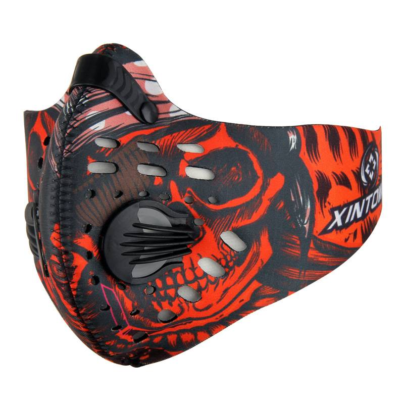 biker Motorcycle mask Motocross Riding Breathable Carbon Filter Racing Dust Smoke Protection Neoprene Mask Men's and Women's