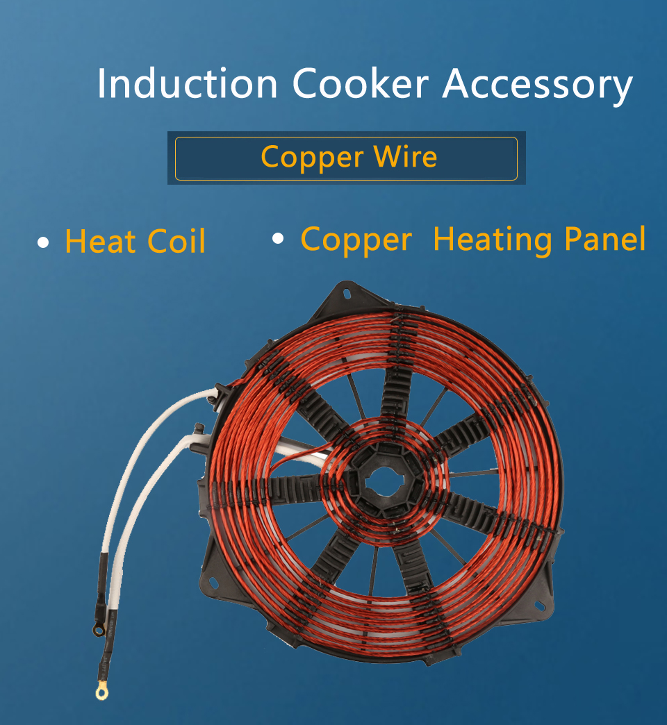 3500W 240mm Heat Coil, all Copper Wire Induction Heating Panel Big ...