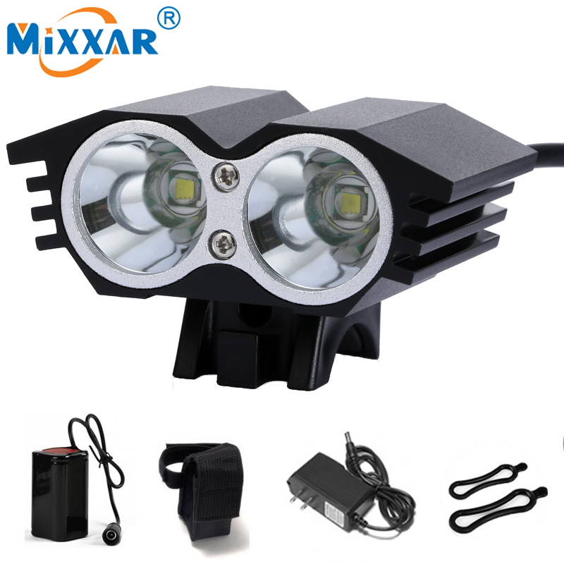 HOT 7000 Lumens 2x T6 LED Cycling Bike Bicycle Light Head front Lights Flash Light 4 Modes Rechargeable Battery Headlight Lamp wheel up bike head light cycling bicycle led light waterproof bell head wheel multifunction mtb lights lamp headlight m3014