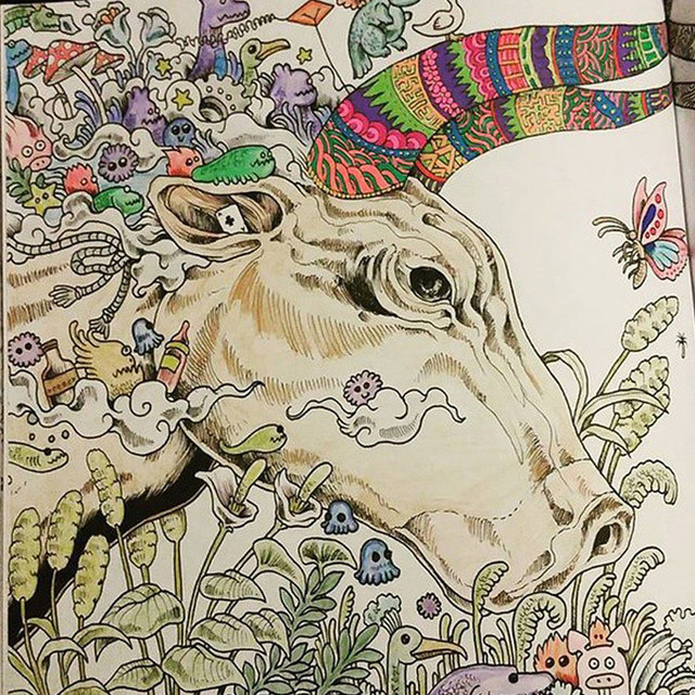 Online Shop 96 Pages Animorphia Coloring Book For Adults Children