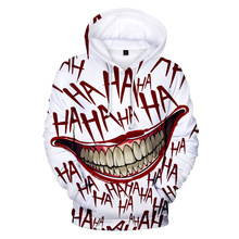 ZY 10 Colors Mens Sweatshirts Haha Joker 3d Anime Print Pullover Hip-Hop Streetwear Funny Hoodies Men Women Coat Poleron Hombre