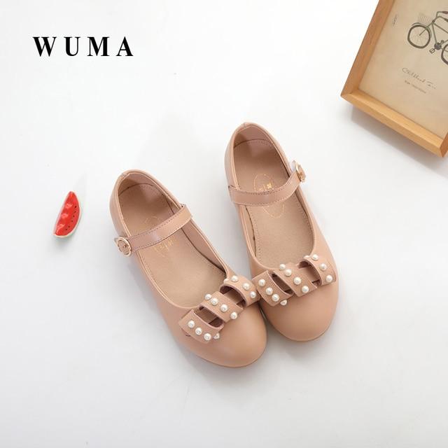 WUMA 2017 niñas de cuero genuino zapatos para niñas zapatos de las ...