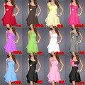Все матч многоцветный Изящные Одно плечо Бисероплетение Платье Для Коктейля/Платье Партии 956