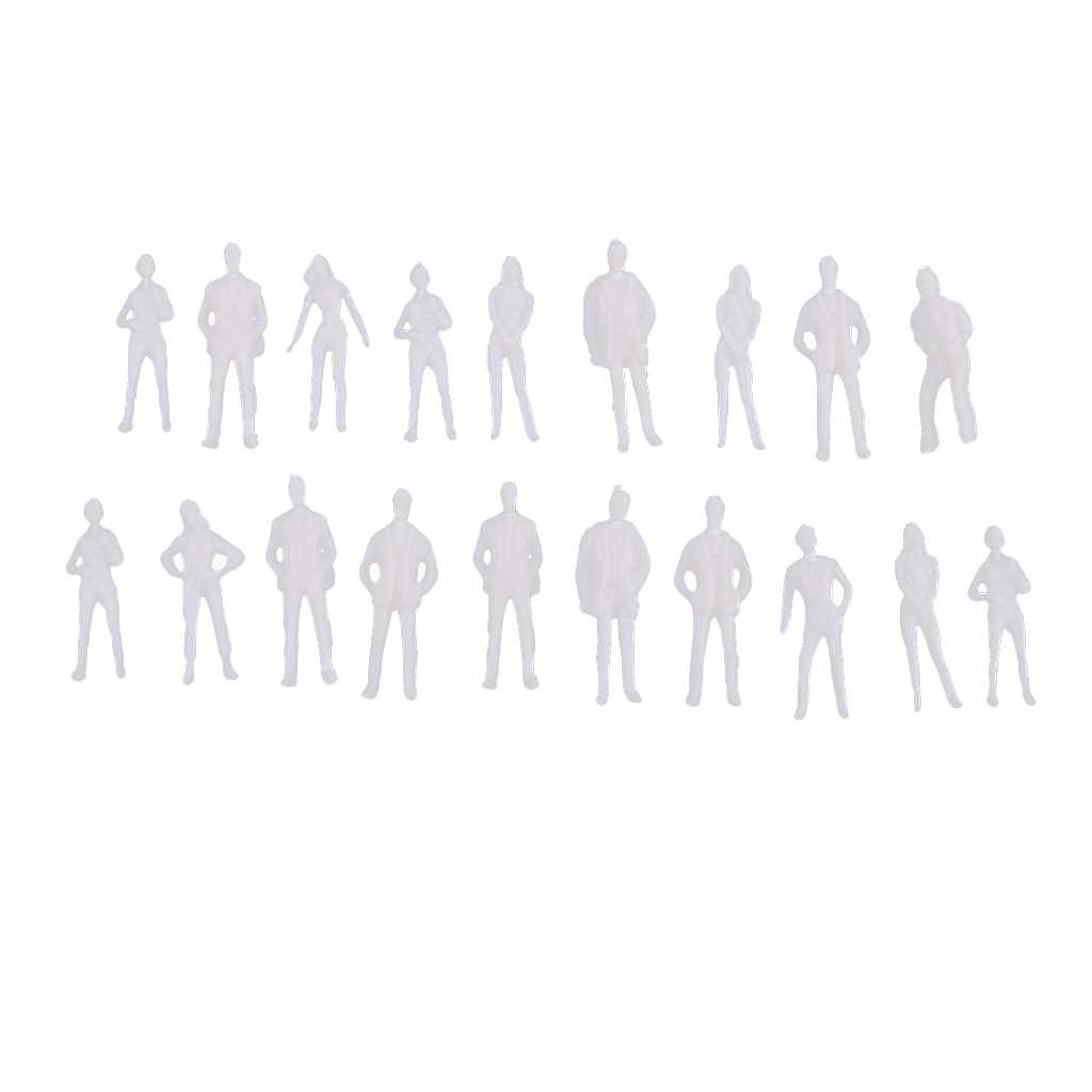 20 Miếng 1/75 Quy Mô Không Phủ Sơn Mô Hình Người Kiến Trúc Hình Mô Hình Thu Nhỏ Của Con Người Nhựa Cảnh Mô Phỏng