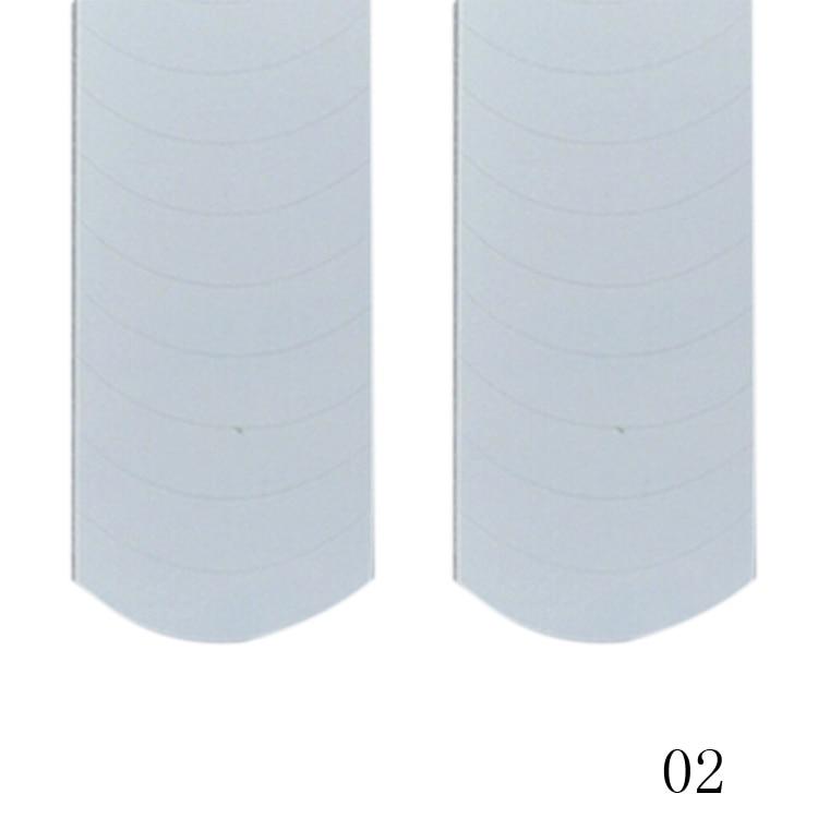 New Fashion 48PCS/Lot Nail Sticker DIY French Manicure Nail Art Decorations Round Form Fringe Guides Nail Sticker 3