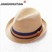 Verano de 2018 el Jazz de las mujeres sombrero de paja playa hombres  sombrero de Sol 1a7446d9ac6