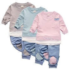 Autumn / Summer Clothing Kids Clothes 2 pcs Baby Toddler Boys Clothing Kids Clothes Boy Kids Shirt Tops + Casual Pants